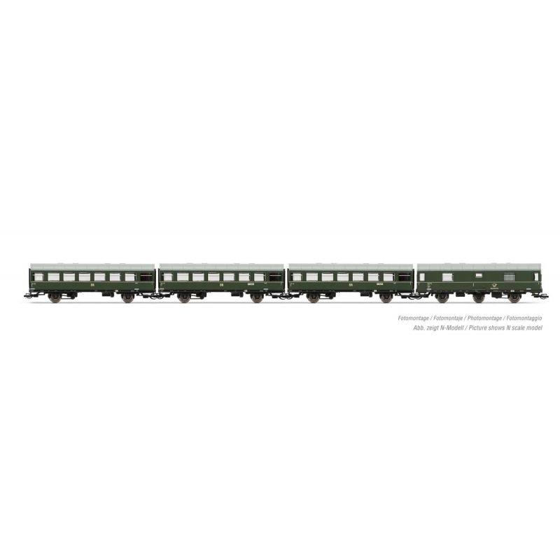 Arnold HN9510Személykocsi szett Reko-vagonokkal, DR IV