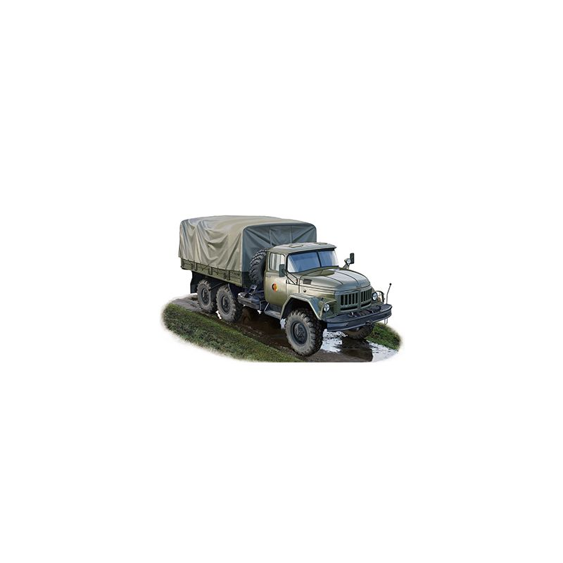 Bronco 35193 Zil-131 teherautó, ponyvás, korai verzió