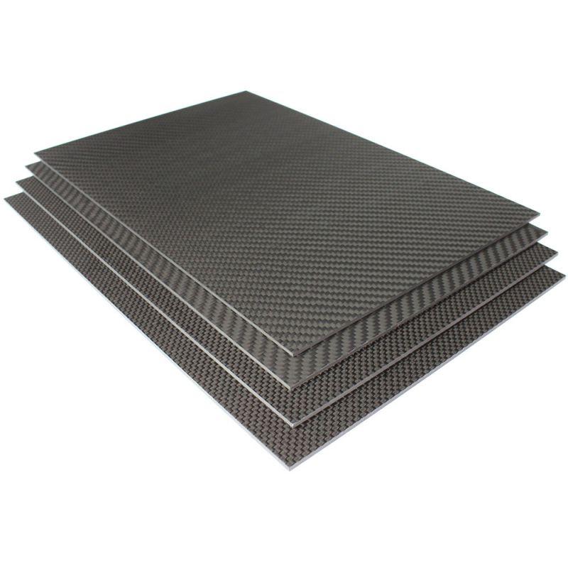 Karbonlap 1x200x300mm fekete