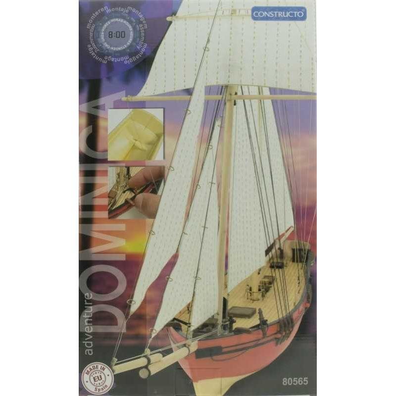 Constructo 80565 Dominica vitorlás (schooner), fa hajómakett, 1:88