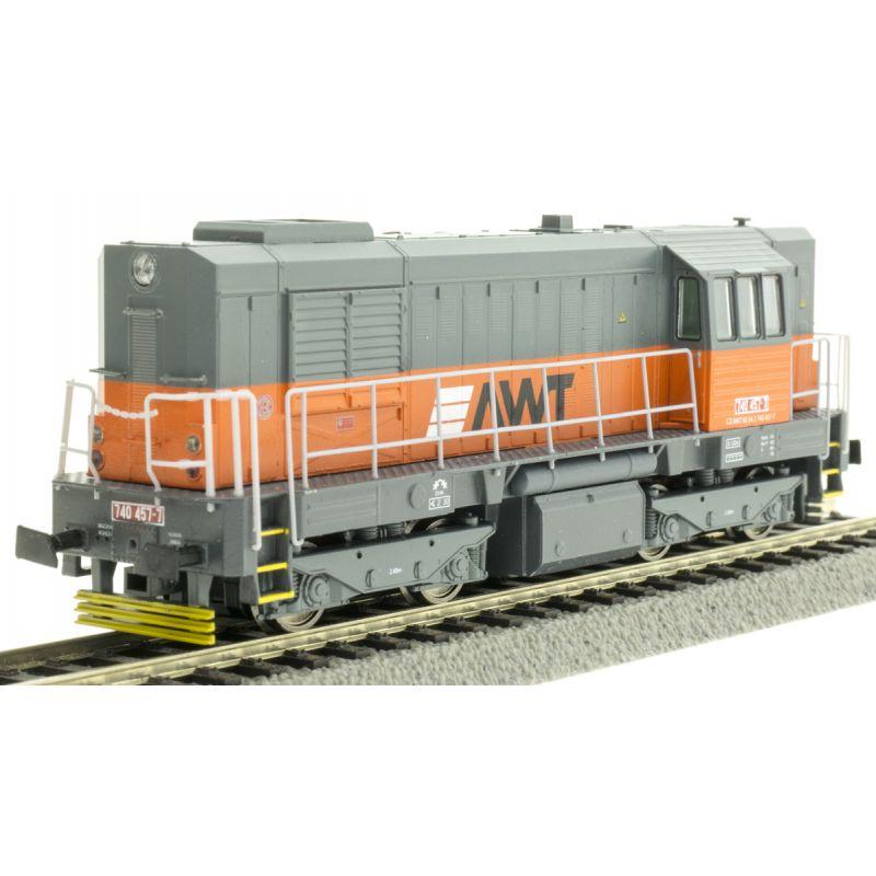 Dízelmozdony Rh 740-457-7 Kocur, AWT VI, hangdekóderrel