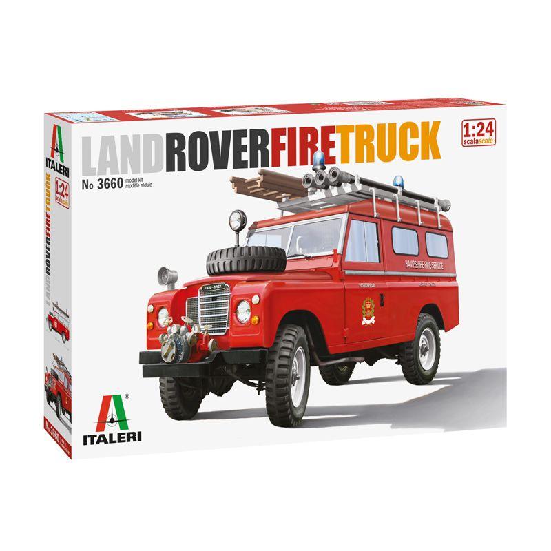3660 ITALERI Land Rover tűzoltó autó