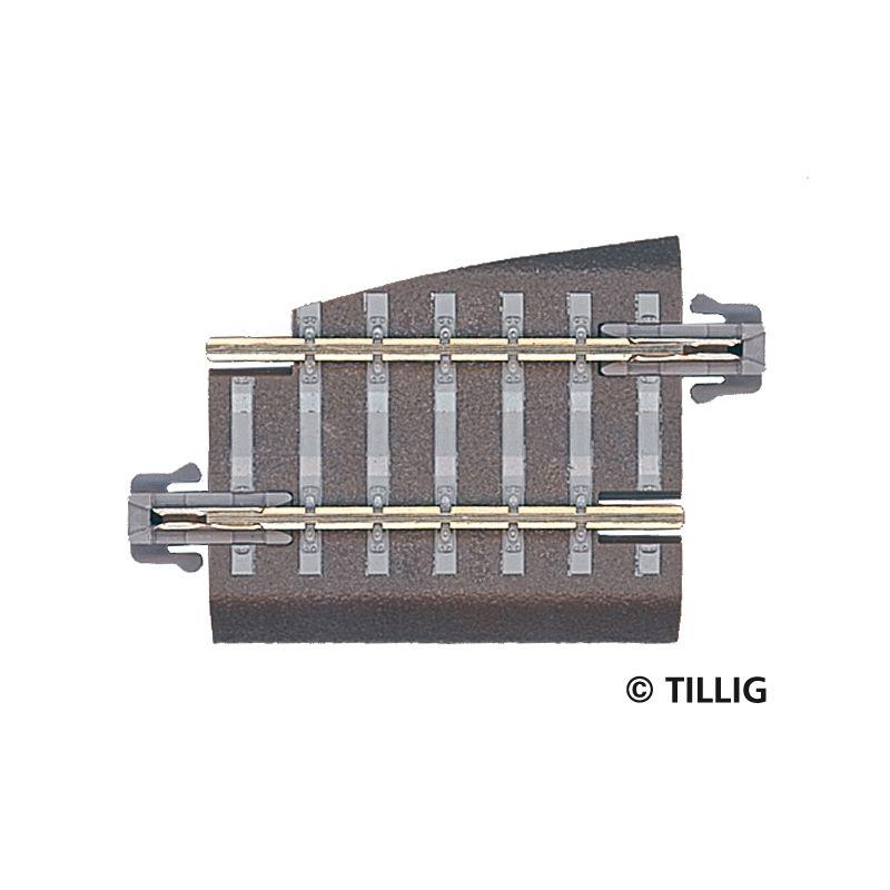 Tillig 83721 Ágyazatos egyenes sín G5 36 mm, jobbos váltóhoz