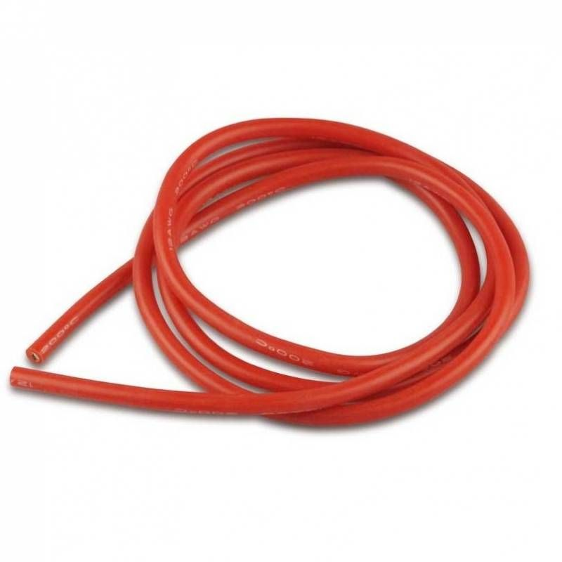12-es AWG Kábel  1 méter PIROS