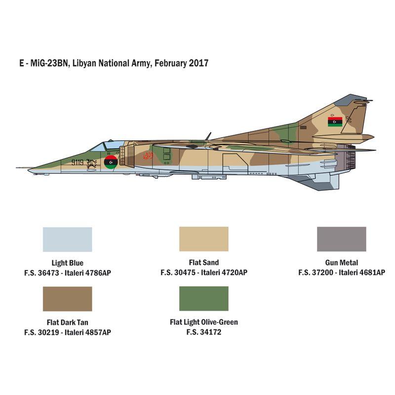 2798S ITALERI MiG-23 MF/BN FLOGGER 1:48
