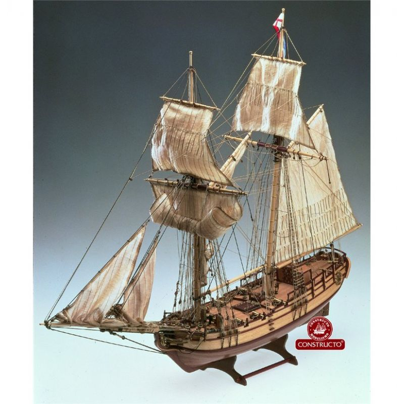 Constructo 80826 Halifax vitorlás, fa hajómakett