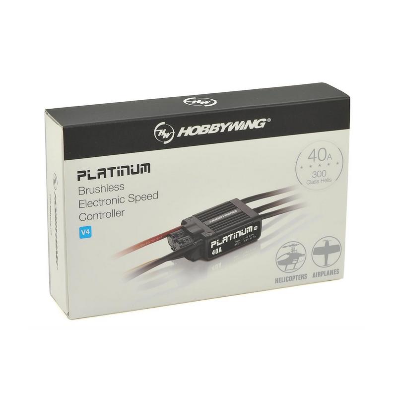 Hobbywing Platinum Pro V4 40A ESC, 300-400 -as méretű Helikopterekhez és repülőgépmodellekhez
