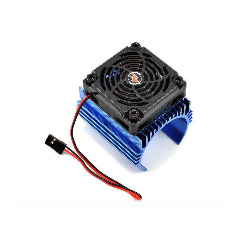 Hobbywing hűtőborda 5cm-es ventilátorral 42-44mm átmérőjű motorokhoz