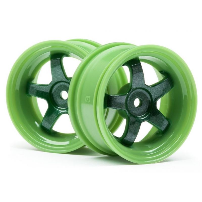 HPI 111090 Work Meister S1 Wheel Green (3Mm Offset/2Pcs)
