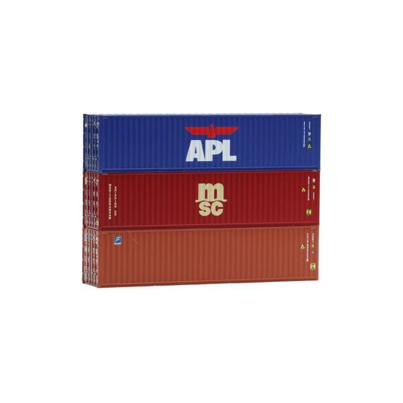 IGRA 98010014 Konténer készlet, 40-as, APL/MSC