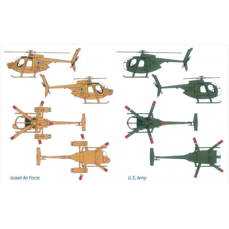 ITALERI 0017 AH-6 Night Fox