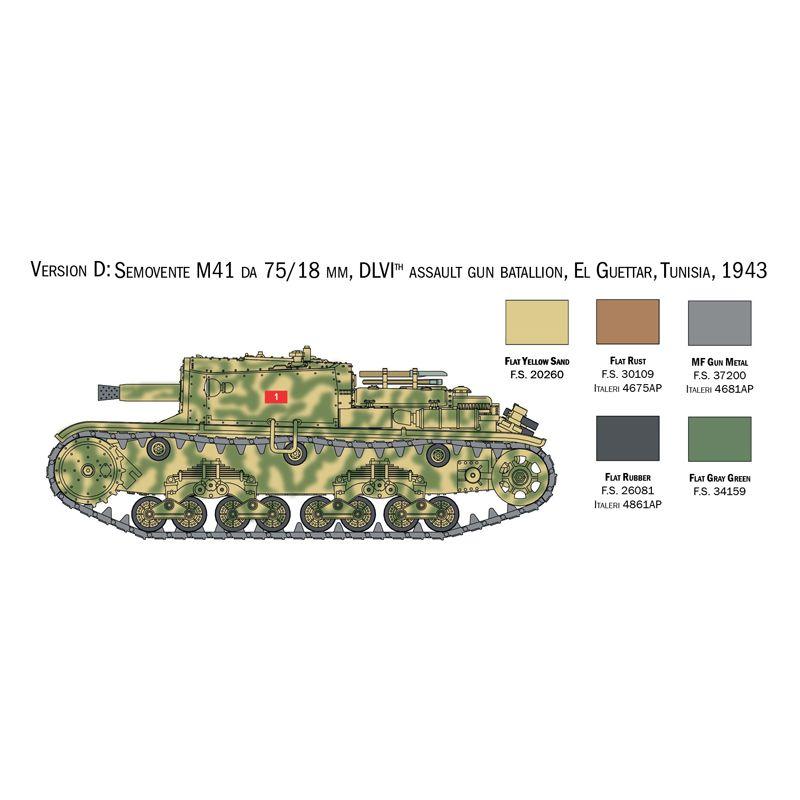 Italeri 15768 Italian Tanks and Semoventi