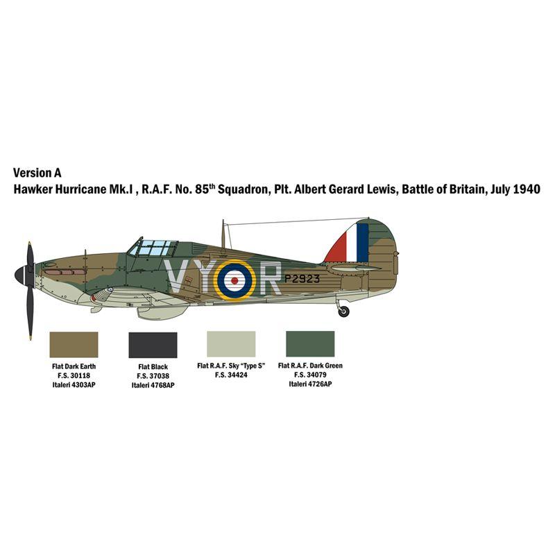 Italeri 2802S Hurricane MK. I 1/48 repülő makett
