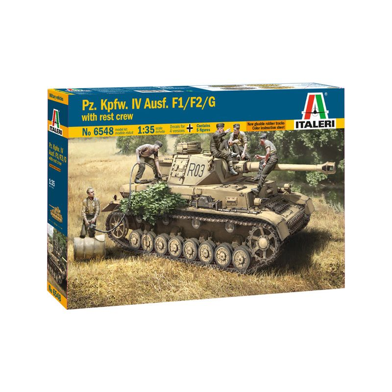 Italeri 6548 PZ. IV F1/F2/G with Ass. Troops