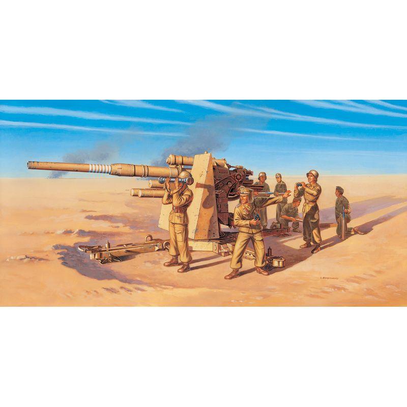 Italeri 7512 8.8 CM FLAK 37 AA GUN with crew