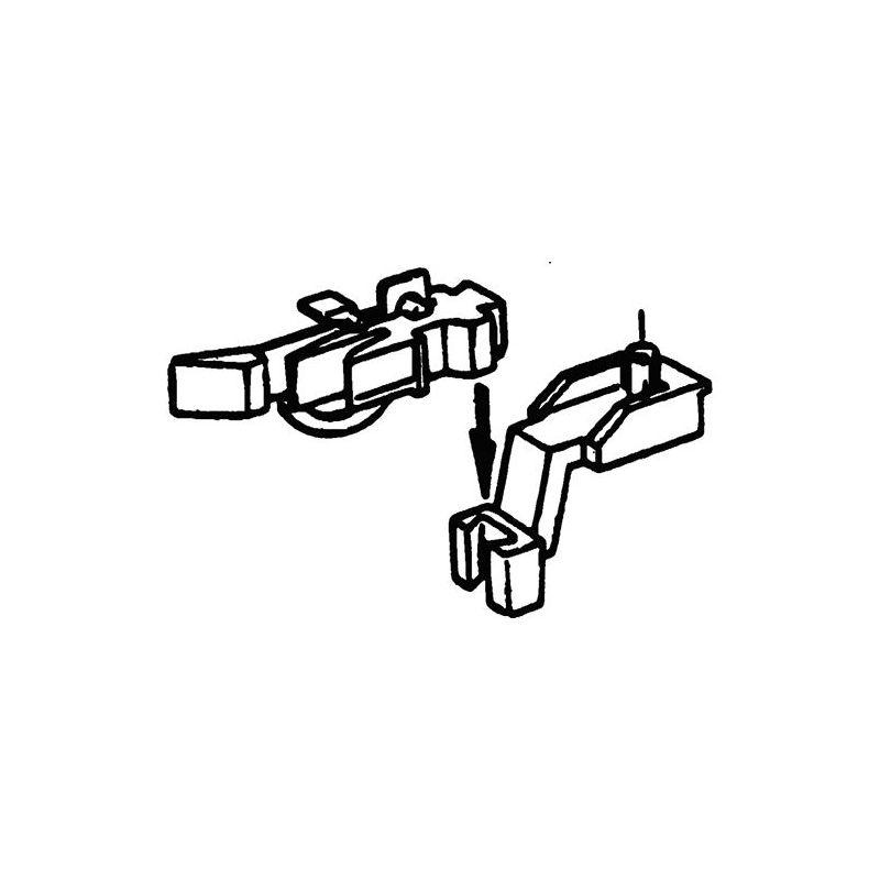 Roco 40281 Kurzkuplung közelkapcsoló csapos tartójú Fleischmann modellekhez 2 db