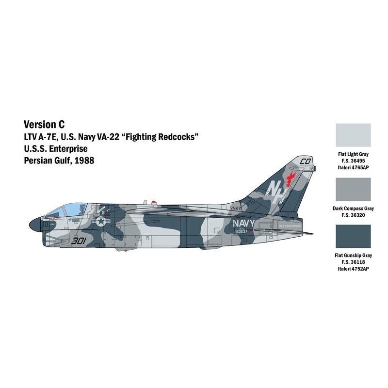 2797S ITALERI A-7 E Corsair II 1:48