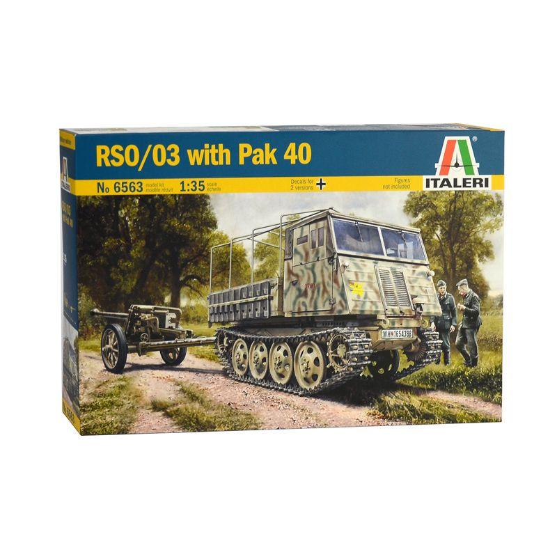 6563S ITALERI RSO/03 Lánctalpas vontató PAK40-es löveggel 1/35