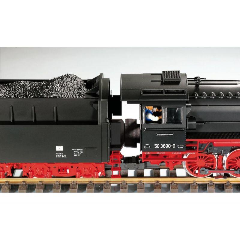 PIKO 37241 Gőzmozdony BR 50 3690-0 Reko, DR IV, hangdekóderrel és füstgenerátorral