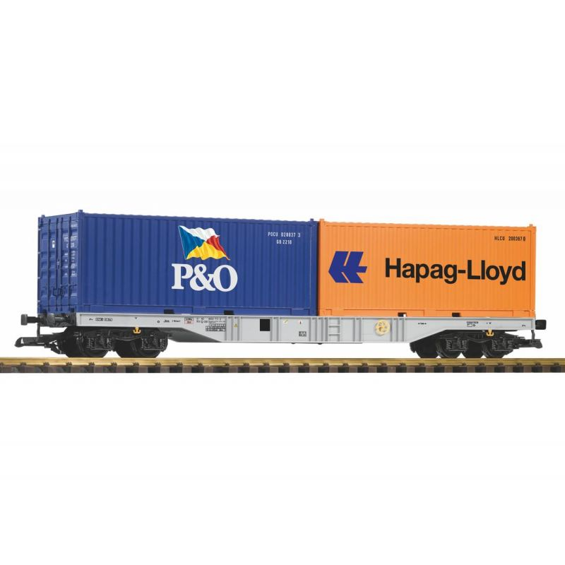 PIKO 37751 G-Containertragwagen mit 2 Containern DB AG VI