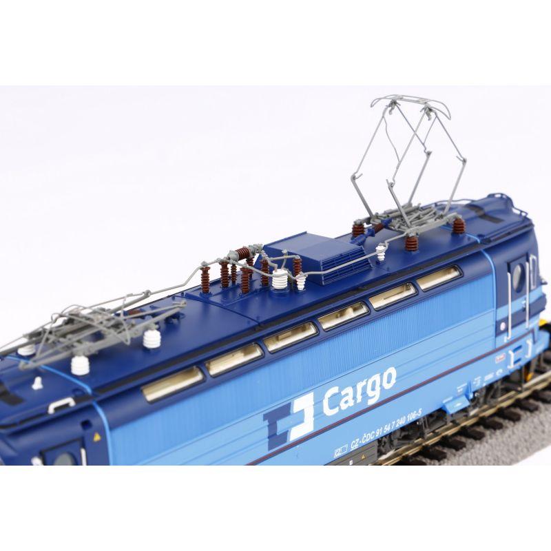 PIKO 51384Villanymozdony BR 240 Laminátka, CD Cargo VI