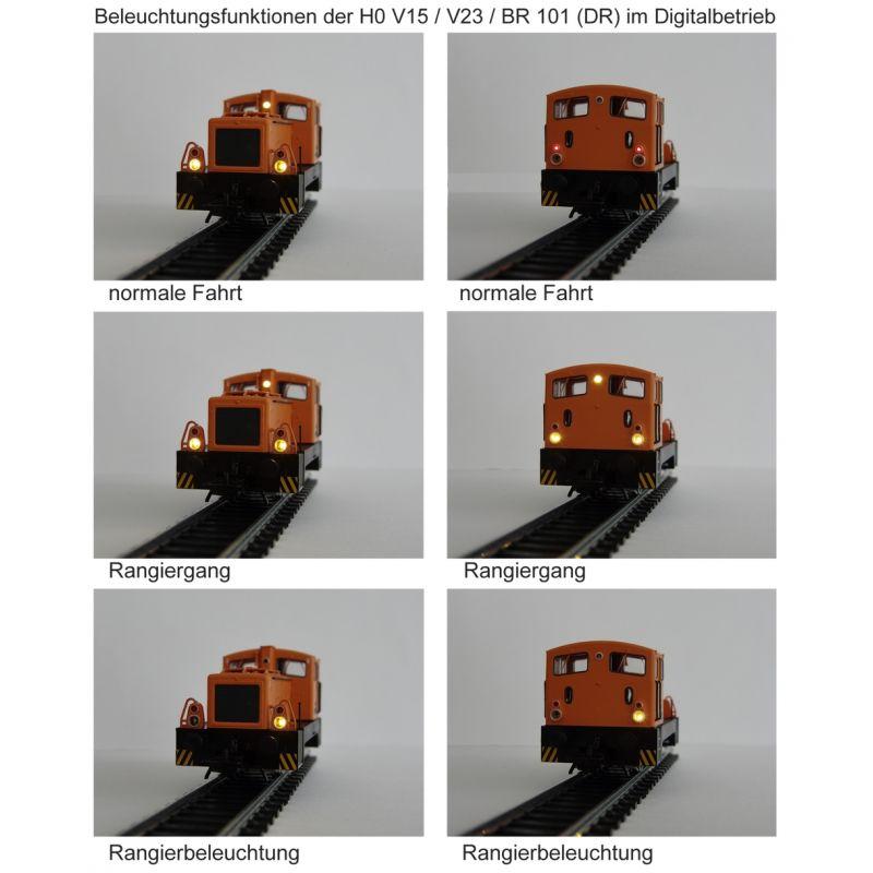 Piko 52540 Dízelmozdony BR 101 566-8 DR IV világítás digitális üzemmódban