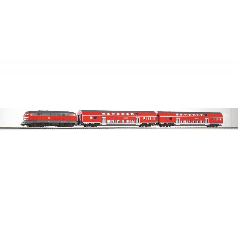 Piko 57150 Startszett BR 218 dízelmozdony emeletes személykocsikkal DB Regio VI