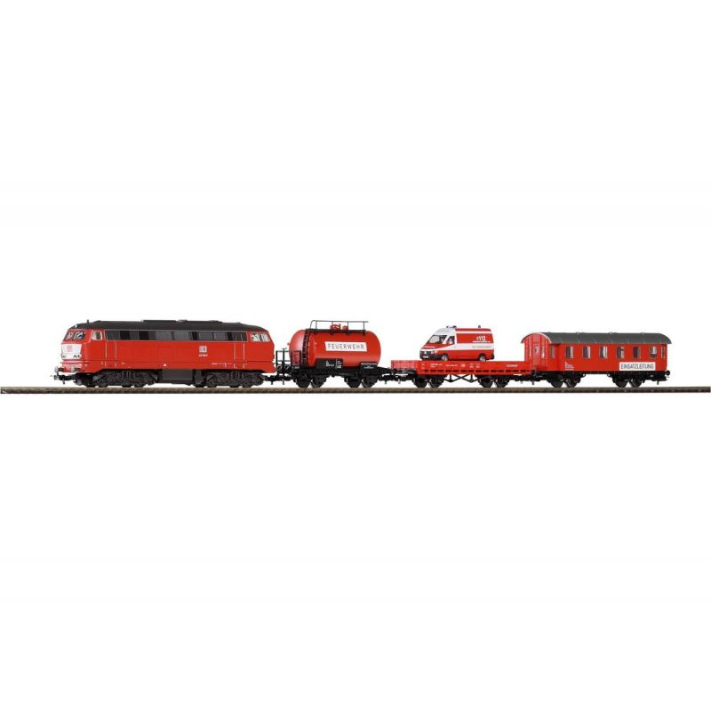 Piko 57153 Startszett BR 218 dízelmozdony tűzoltó-szerelvénnyel DB AG V