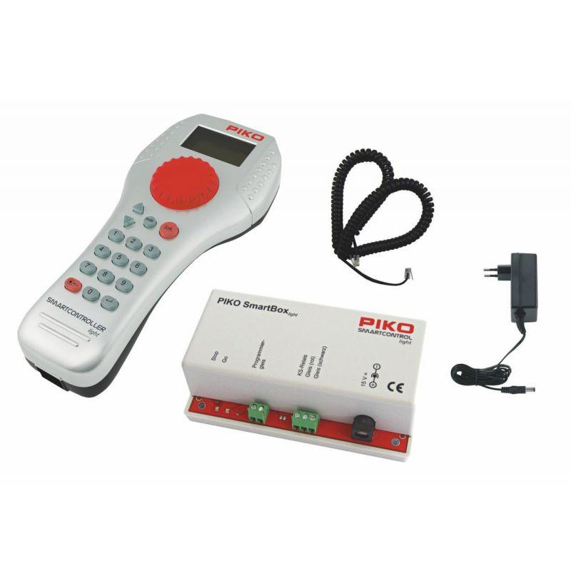 PIKO 59024 SmartControl light digitális kezdőkészlet, Taurus villanymozdony személykocsikkal, ágyazatos sínnel, PKP IC VI