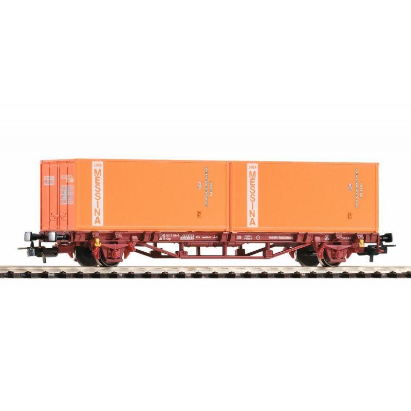 Piko 97061 Konténerszállító kocsi Lbgs, Messina konténerekkl, FS IV