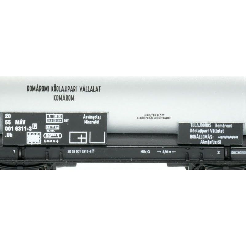 QuaBLA  82012 Tartálykocsi fékhíddal Uh, 6311-3, MÁV IV