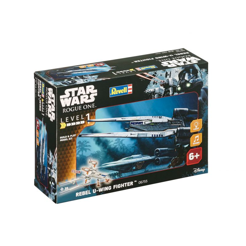Revell 06755 Star Wars Rogue One (Zsivány Egyes) U-Wing Fighter, összepattintható, fény- és hangeffekttel