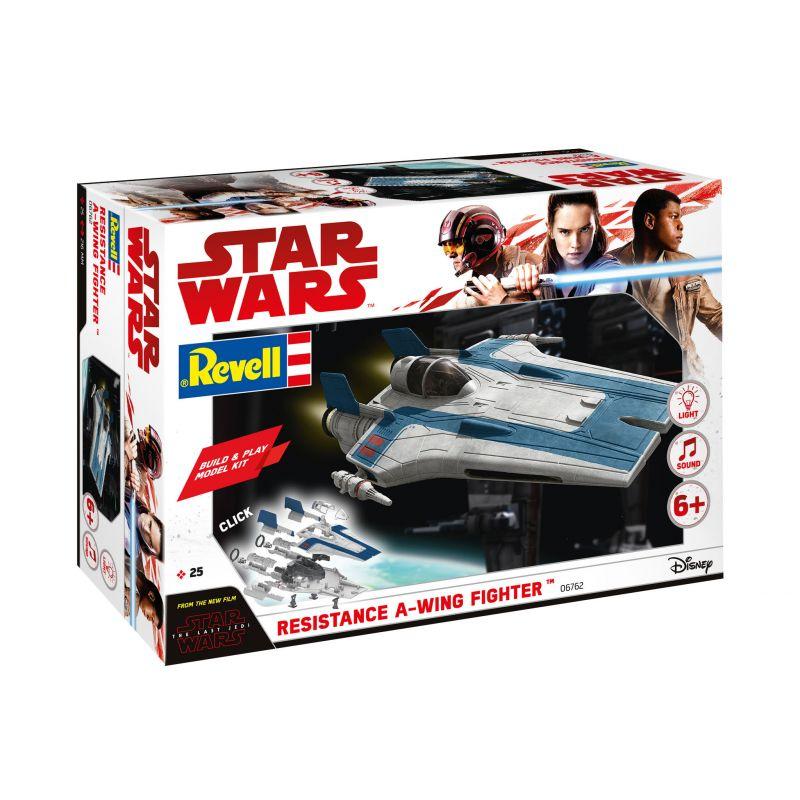 REVELL 06762 Star Wars A-szárnyú vadászgép, hang- és fényeffekttel, összepattintós