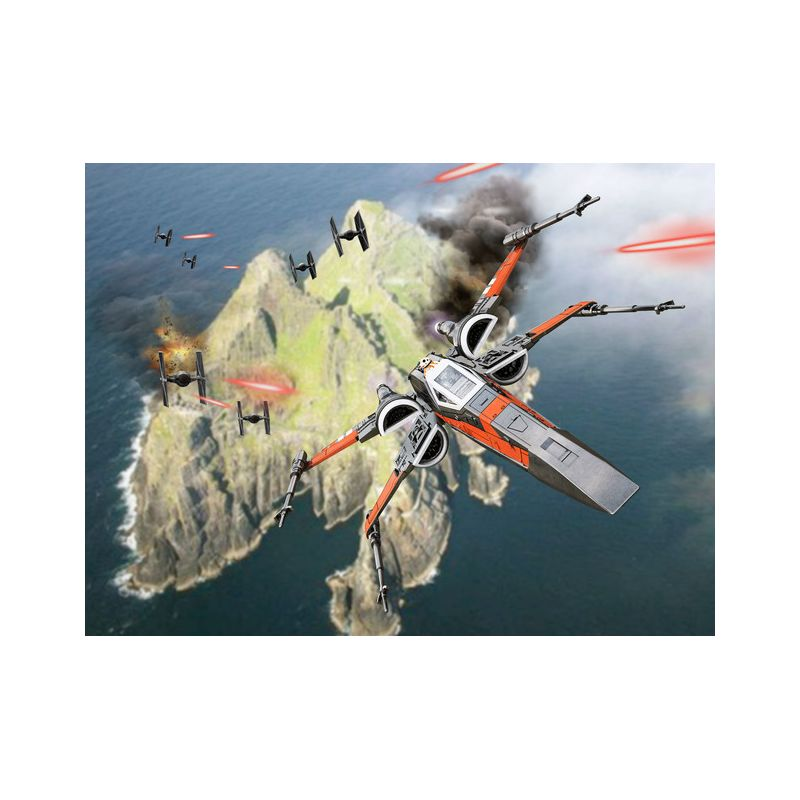 Revell 06763 Star Wars Build & Play Poes Boosted X-Wing Fighter 1:78