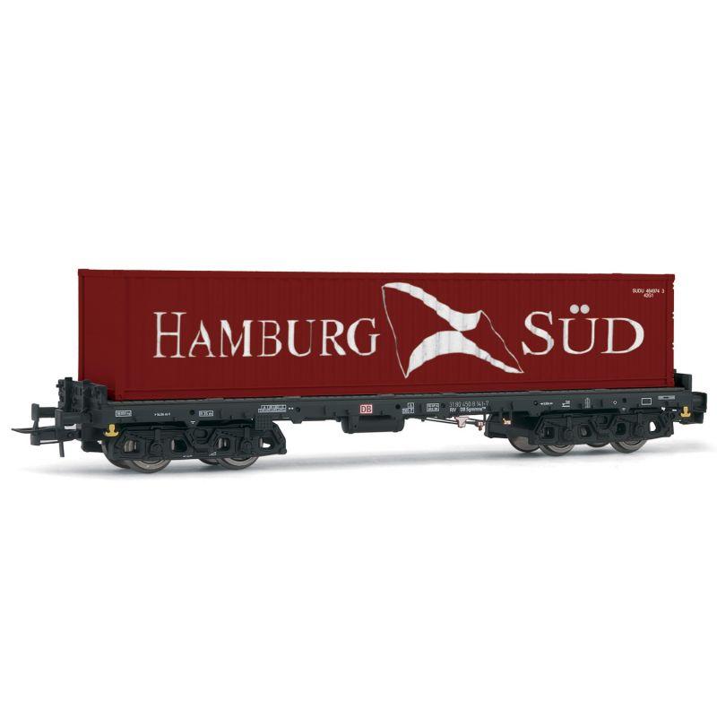 Rivarossi HR6404 Konténerszállító kocsi Sgmms, Hamburg Süd 40 konténerrel, DB AG V