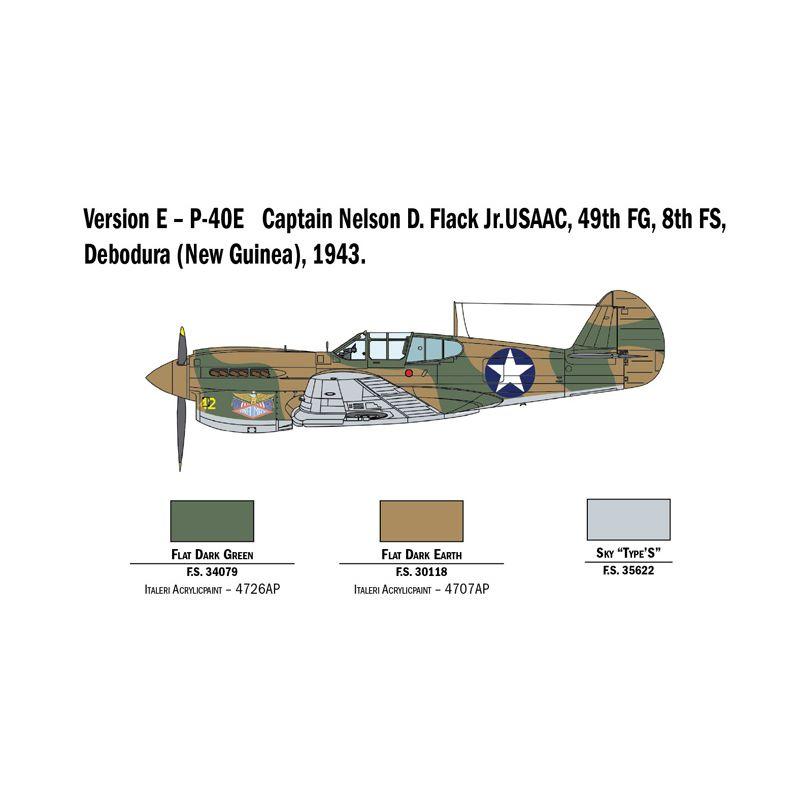 2795 Italeri P-40 E/K Kittyhawk repülő 1:48