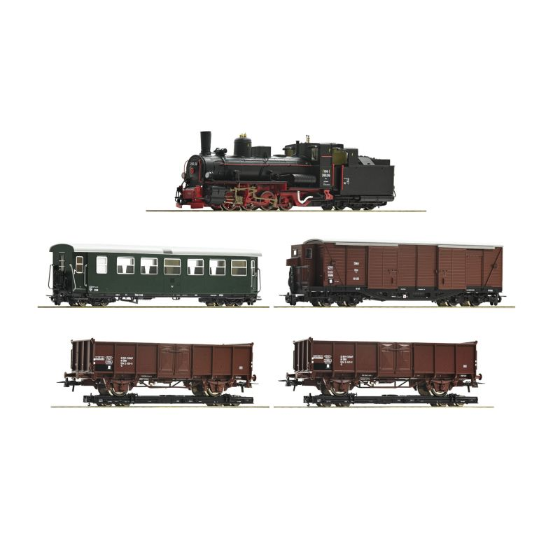 Roco 31032 Vonat szett, Rh 399.06 gőzmozdony teherkocsikkal, ÖBB III, hangdekóderrel