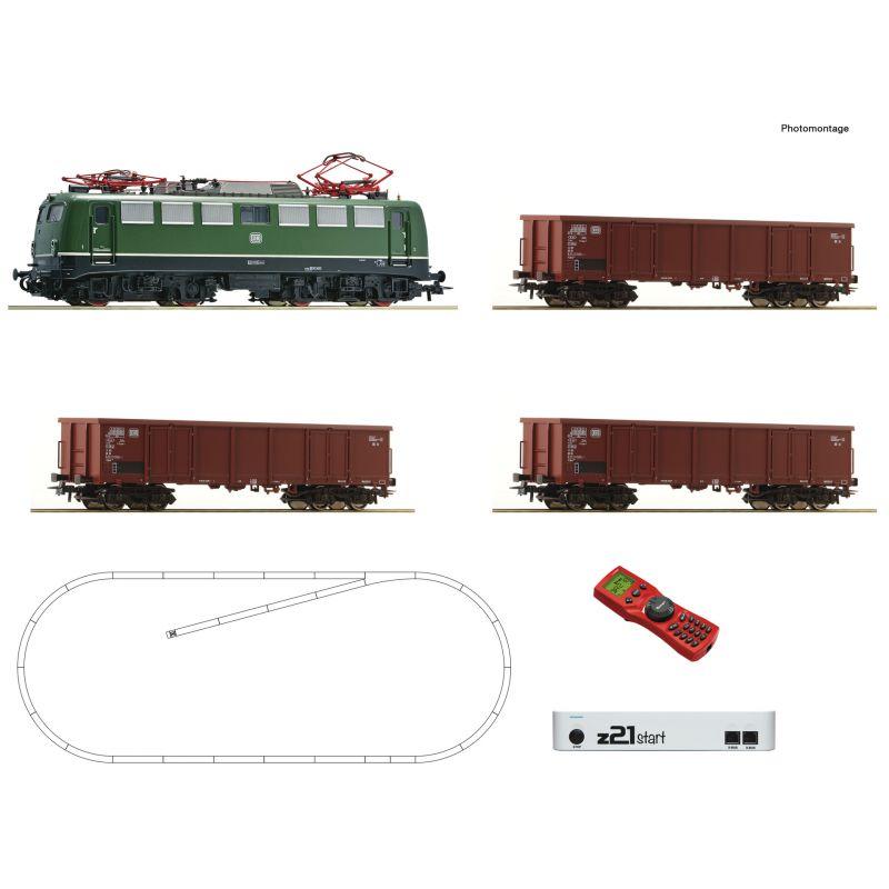 Roco 51330 z21 Start Digitális kezdőkészlet, BR 140 villanymozdony tehervagonokkal, DB IV