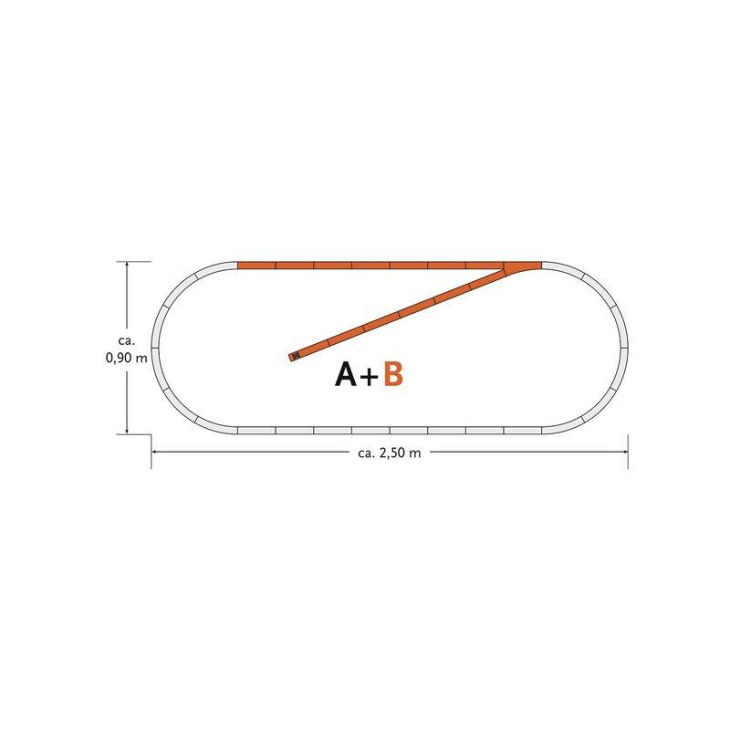 Roco 61101 GeoLine sínkészlet B