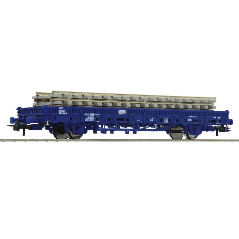 Roco 67583 Pőrekocsi betonaljas sínrakománnyal Kbs, Railpro IV-V