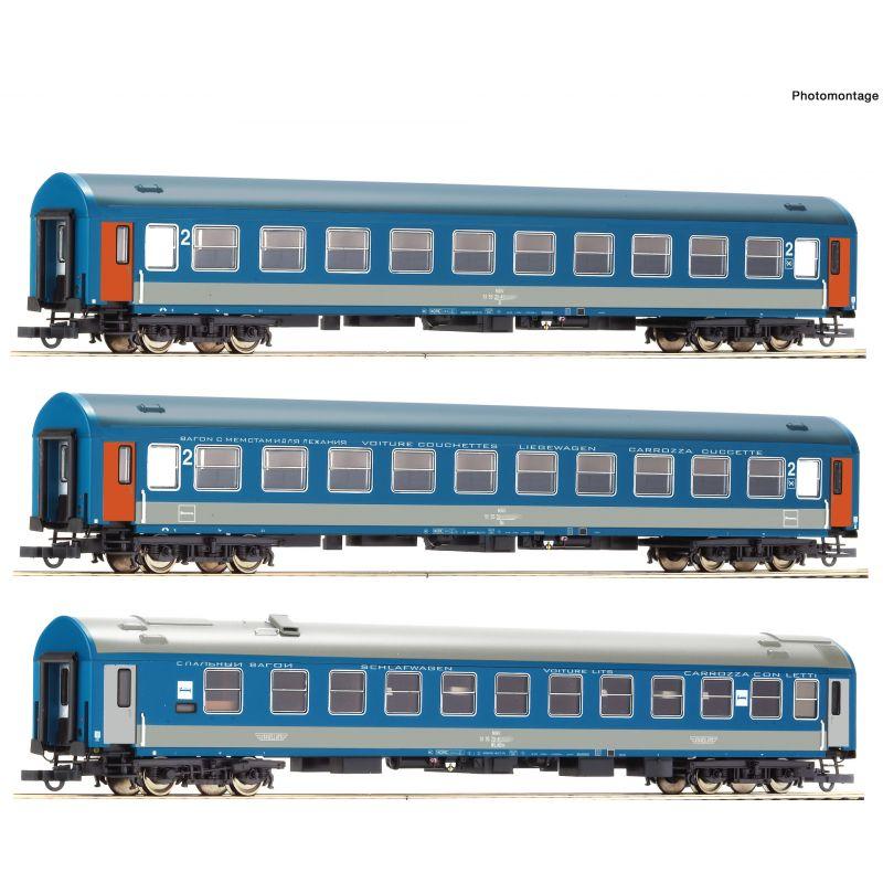 Roco 74188 Személykocsi készlet, D374/375 Vindobona/Hungária, MÁV IV-V, 1. szett