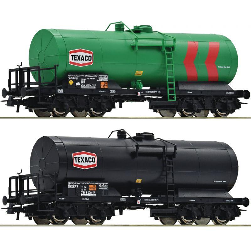 Roco 76013 Tartálykocsi készlet TEXACO, DB IV