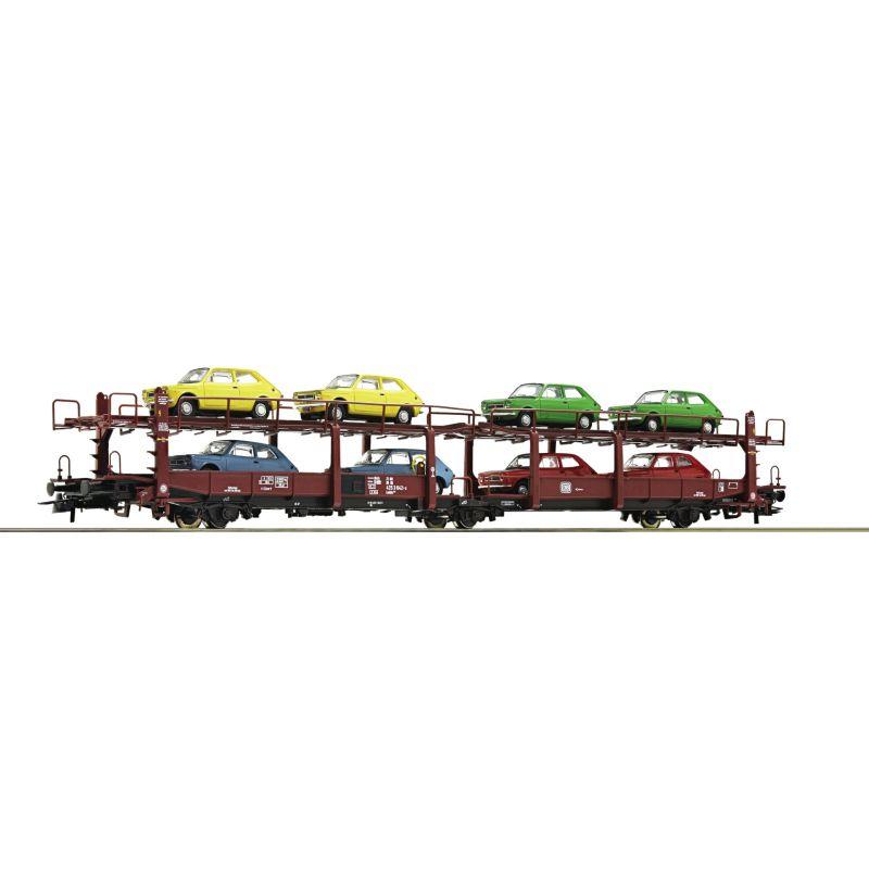 Roco 76834 Autószállító kocsi Laes 543, Fiat 127 autókkal, DB IV