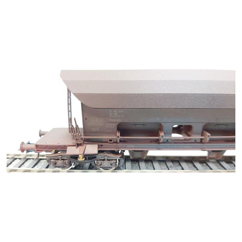 Roco 77916Önürítős kocsi zúzalékszállítmánnyal Facs, DR IV, antikolt, 1. pályaszám