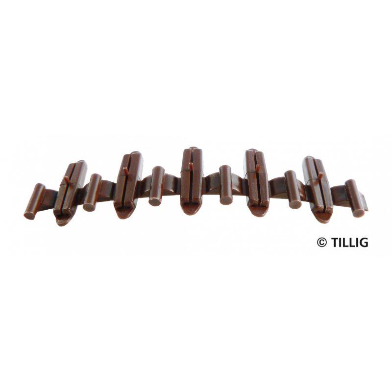 Tillig 85502 Szigetelő sínösszekötő, barna, 20 db