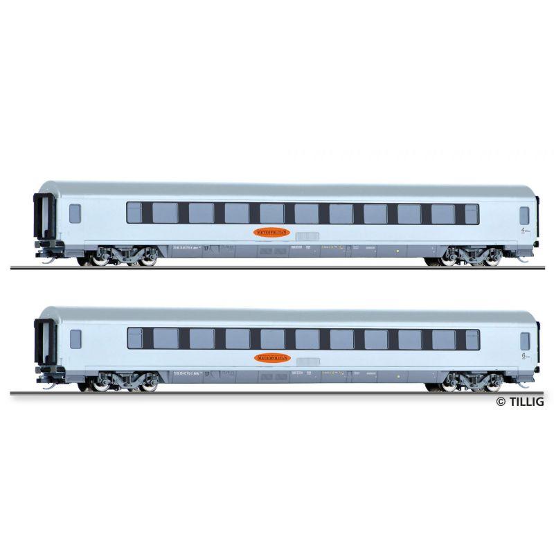 """Tillig 01024 Személykocsi szett """"Metropolitan 3"""", DB AG V"""