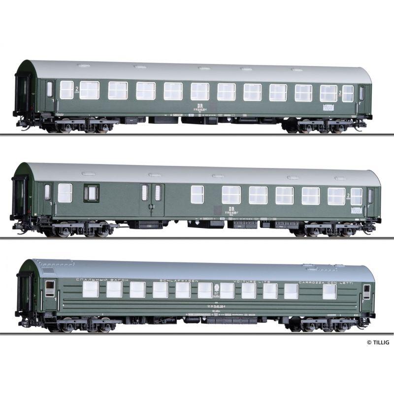 Tillig 01806 Személykocsi szett Y/B70, Interzonenzug 2, DR IV