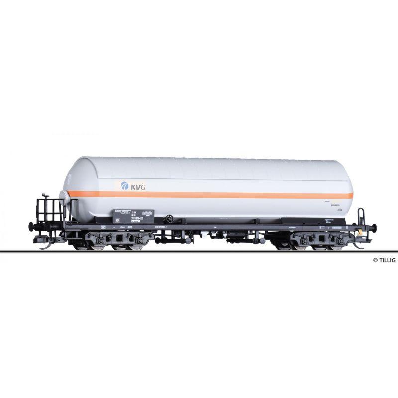 Tillig 15041 Tartálykocsi fékhíddal, napvédő tetővel, gázszállító, KVG, DB AG V