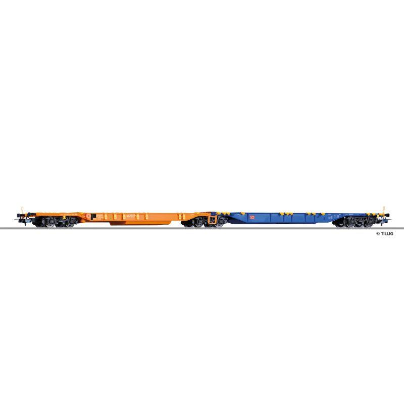 Tillig 76769 Doppeltragwagen Sdggmrs 744 der DB AG, Ep. VI