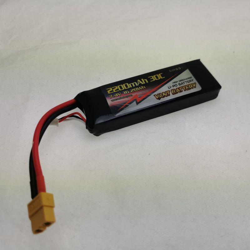 Akku LiPo 7,4V 2200mAh 30C XT60